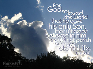 Bible Verses About Love John 3:16 Scripture Picture Sky