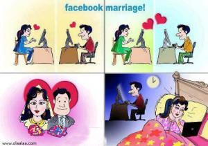 Facebook mariage,Husband Wife Meme India