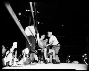 ... August 18,1958-Floyd Patterson vs Roy Harris..Lew Jenkins, Dan Florio