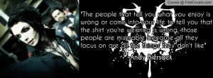 Andy Biersack quote cover