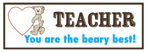 Printable Teacher Appreciation Gummy Bears