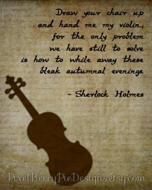 Holmes 8x10 Printable Wall Art (Bookworm gift idea!) Sir Arthur Conan ...
