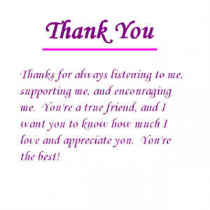 thank you friend for all the things that mean so much to me for ...