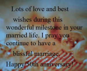 Happy 50th Year Wedding Anniversary Wishes and Sayings: What to Write ...