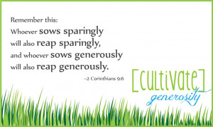CULTIVATE] GENEROSITY: This month's Bible verse + free printable!