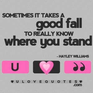 Know Where You Stand Quotes