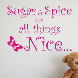 Sugar and Spice - Kids wall sticker - WA055X