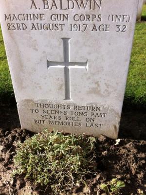 Belgium war graves beautiful quote