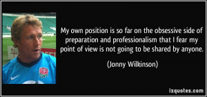 More Jonny Wilkinson Quotes
