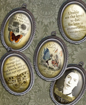 Emily Dickinson - 18 x 25mm Ovals - Victorian Goth - Poetry - Quotes ...