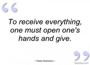 to receive everything taisen deshimaru