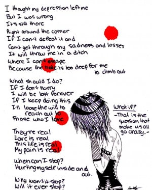 sad emo poems about cutting