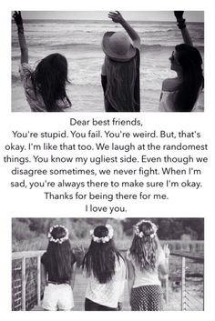 dear best friends more dear best friends three best friends quotes ...