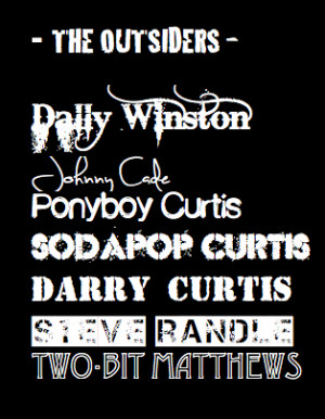 The Outsiders Gang Font Poster by Jamiabrielle