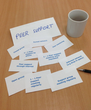 were interested in exploring different ways of receiving peer support ...