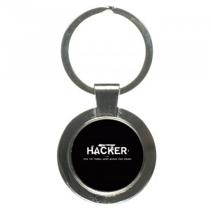 Hacker Funny Quotes Keychain