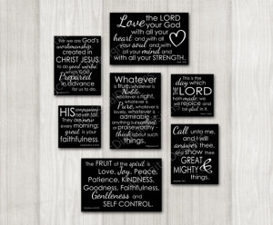 Printable Digital Scripture Quotes Wall Art Decoration Group Collage