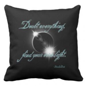 Buddha Light Quote Throw Pillow