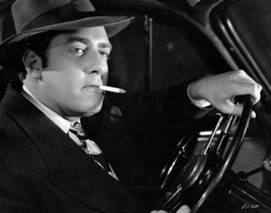 Raymond Burr in Pitfall (1948).
