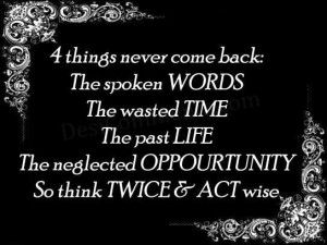 Think twice and act wise