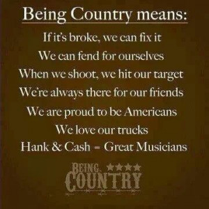 Being country