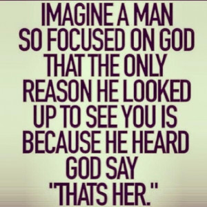 ... he looked up to see you is because he heard God say,