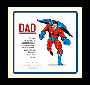 Superhero Dad Logo Father's day gifts dad super