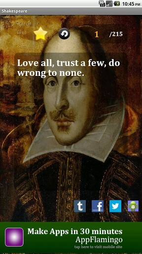 View bigger - Best Shakespeare Quotes for Android screenshot