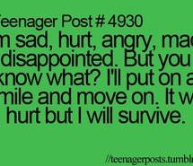 , love, lyrics, mad, post, quote, quotes, sad, smile, survive, teen ...