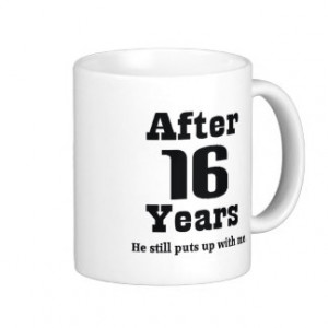 16th Anniversary (Funny) Classic White Coffee Mug