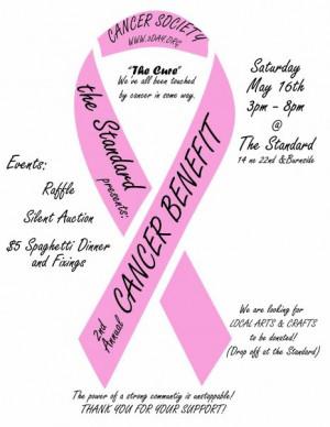 cancer benefit flyer Image