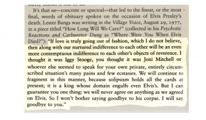 Re OT LESTER BANGS TRUTH TELLER
