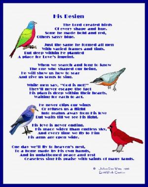 Poet Seers Poems About Birds