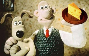 When Wallace and Gromit want cheese, they go to the moon.