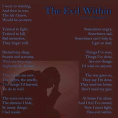 ptsd poem more wounds ptsd ptsd poems ole wars evil the evil within 1