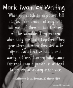 """mark twain quotes writing Mark twain quote: """"writing is easy all you have to do is cross out all you have to do is cross out the wrong words — mark twain 12 wallpapers mark."""