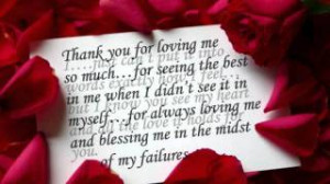 Thank you Love letter quotes for him