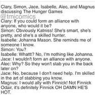 The mortal instruments, funny quotes :)