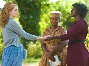 Emma Stone as Skeeter, Octavia Spencer as Minny