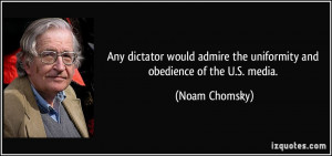 Any dictator would admire the uniformity and obedience of the U.S ...