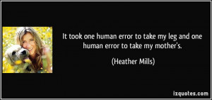 More Heather Mills Quotes