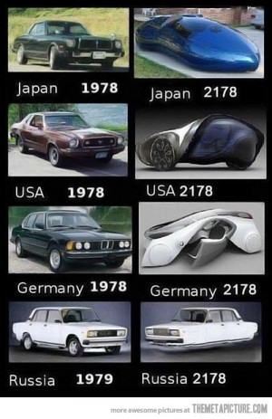 Funny photos funny evolution of cars Russia