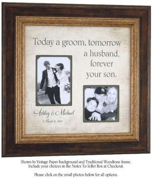 Parents Wedding Gift MOTHER of the Groom by PhotoFrameOriginals: Bride ...