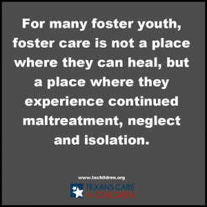 ... state's inadequate policies for children in the foster care system