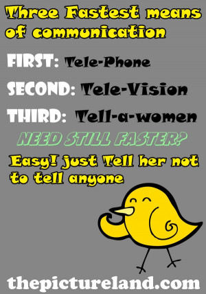 Three Fastest Means Of Communication Jokes Picture