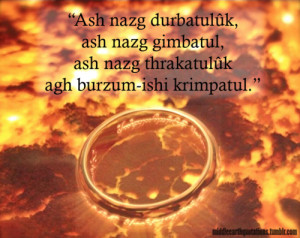 ... by Gandalf, The Fellowship of the Ring, Book II, The Council of Elrond