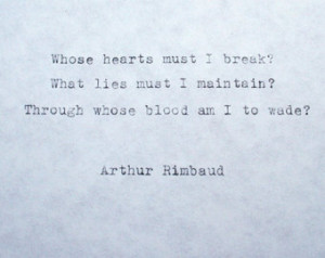 Arthur Rimbaud Poems About Love