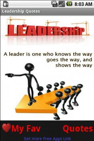 Good Leadership Quotes - screenshot