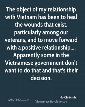 ... Vietnamese government don't want to do that and that's their decision