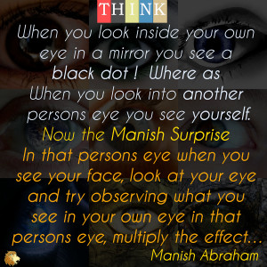 When you look inside your own eye in a mirror you normally see a black ...